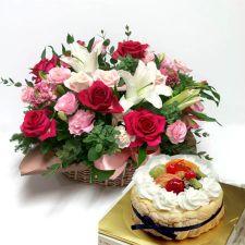 벨바스켓+케이크