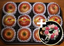 사과 리스(조화) 선물 세트