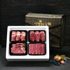 암소 퀸 선물세트 2호 2kg (등심0.5kg+안심0.5kg+채끝0.5kg+특수부위0.5kg/1+등급), 선물세트, 한국 선물, 추석 선물, 설날 선물