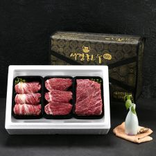 암소 퀸 선물세트 3호 1.5kg (등심0.5kg+안심0.5kg+국거리0.5kg/1+등급), 선물세트, 한국 선물, 추석 선물, 설날 선물