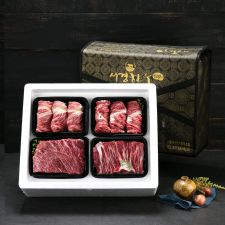 암소 퀸 선물세트 4호 2kg (등심0.5kg+등심0.5kg+양지0.5kg+장조림0.5kg/1+등급), 선물세트, 한국 선물, 추석 선물, 설날 선물