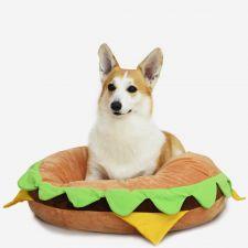 코튼푸드 햄버거 강아지방석