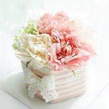 쁘띠케이크 1단 핑크 (여아), 꽃, 꽃집 청년들, 기저귀