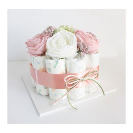 기저귀케익 1단 - 핑크 (여아)