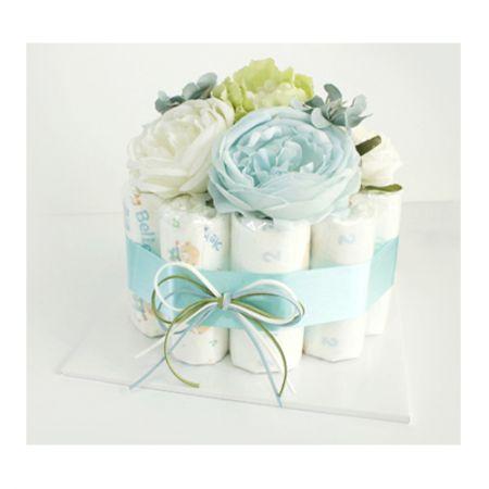 기저귀케익 1단 - 블루&그린 (남아)