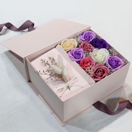 정성가득 비누꽃상자 핑크