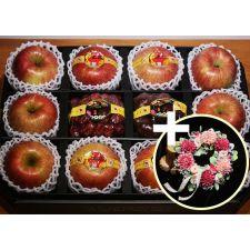 사과, 대추, 밤 리스(조화) 선물 세트