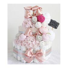 기저귀케이크 3단 - 핑크 (여아)