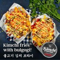 Kimchi fries with bulgogi / 불고기 김치 프라이