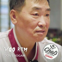 Chef Woo Kim at Dons Bogam : Marinated Beef Platter  / 양념 소고기 모듬구이