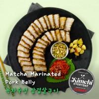 Matcha marinated pork belly / 녹차숙성 삼겹살구이