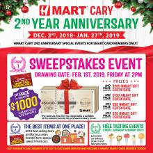 Hmart Cary 2nd Anniversary Sweepstakes Event!