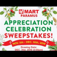 [H Mart Paramus New Jersey] Customer Appreciation Celebration Sweepstakes!