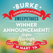 [H Mart Burke VA] Congratulations to All the Winners!