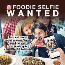 Foodie Selfie Wanted!