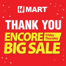 Encore Big Sale at All VA/MD H Mart Stores