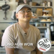 Chef Jonghun Won at La Tabatiere : Burdock Pound Cake / 우엉 파운드 케익