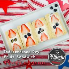 Independence day Fruit Sandwich / 독립기념일 과일샌드위치