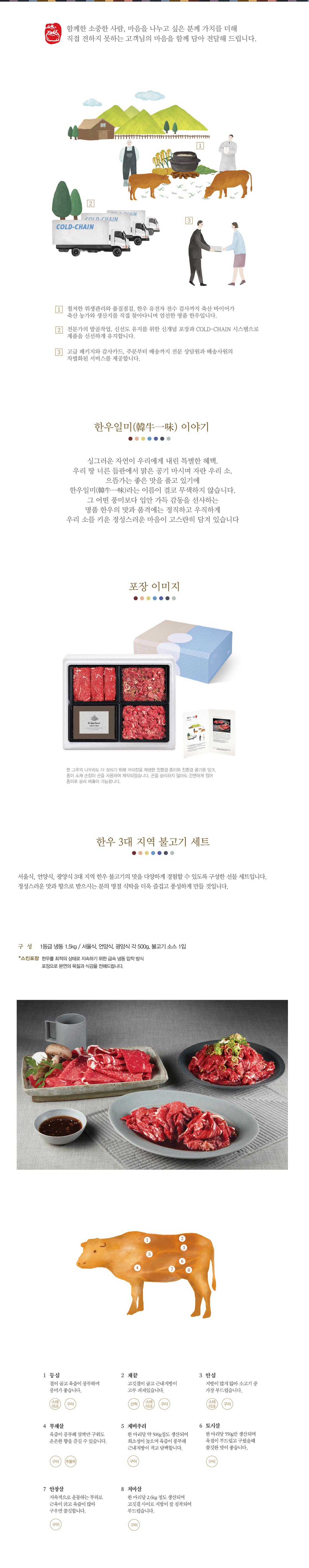 한우3대지역불고기세트 1.5kg 1등급 냉동 1.5kg / 서울식, 언양식, 광양식 각 500g, 불고기소스